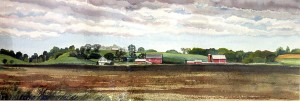 Farmland Scene by Judy Dixon