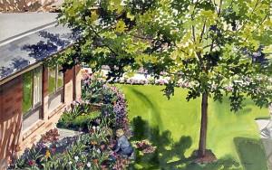 Resident In Her Garden by Judy Dixon